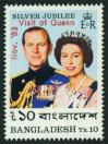 #BGD198307 - Bangladesh 1983 Stamps Visit of Queen (Overprint) 1v MNH   1.00 US$ - Click here to view the large size image.