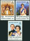 #BD197701 - Bangladesh 1977 Silver Jubilee - Queen Elizabeth Ii (1952-1977) 3v Stamps MNH   0.99 US$ - Click here to view the large size image.