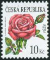 #CZE200805 - Czech Republic 2008 Definitive - Beauty of Flowers - Rose 1v Stamps MNH - Flora   0.79 US$ - Click here to view the large size image.
