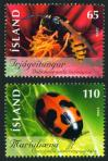 #ISL200615 - Iceland 2006 Insects 2v Stamps MNH - Wasp - Ladybird   1.99 US$ - Click here to view the large size image.
