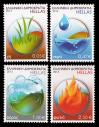 #GRC201308 - Greece 2013 Earth - Water - Air  - Fire - the Four Elements 4v Stamps MNH   4.99 US$ - Click here to view the large size image.