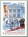 #FRA201602 - France 2016 Mines Saint-Etienne - French Graduate Engineering School 1v Stamps MNH Architecture Education   0.99 US$ - Click here to view the large size image.