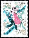 #FRA201615 - France 2016 Stamp Festival - Dancing - Charleston 1v Stamps MNH Art Painting   0.99 US$ - Click here to view the large size image.
