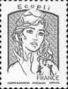 #FRA201630D - France 2016 Definitives - Marianne - Dark Grey 1v Stamps MNH   0.74 US$ - Click here to view the large size image.