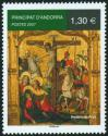 #AND200705 - Andorra (France) 2007 the Crucifixion Christ : Predella of the Altar of Saint-Michel De Prats Church 1v Stamps MNH   1.99 US$ - Click here to view the large size image.