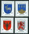 #LVA200605 - Coats of Arms of Latvian Towns and Regions   0.59 US$ - Click here to view the large size image.