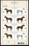 #UKR2005S04 - Horses Sheet of 2 Set (8 Stamps)   2.00 US$ - Click here to view the large size image.