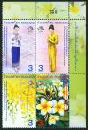 #THA201113 - Thailand 2011 Lao Pdr Diplomatic Relation 4v Stamps MNH Flowers Costumes   1.14 US$ - Click here to view the large size image.