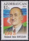 #AZB201404 - 130th Anniversary of the Birth of Mammad Amin Rasulzad 1v MNH 2014   0.30 US$ - Click here to view the large size image.