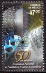 #MEX201421 - The 50th Anniversary of the National Association of Colleges and Schools of Engineering 1v MNH 2014   0.50 US$ - Click here to view the large size image.