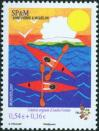 #SPM200716 - Charity Stamp For the Telethon and Neuromuscular Research - Canoe Race (Amelie Poulain)   1.39 US$ - Click here to view the large size image.