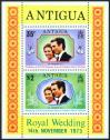 #ATG197301 - Antigua 1973 Royal Wedding of H.R.H. Princess Anne & Captain Mark Phillips M/S MNH   0.99 US$ - Click here to view the large size image.