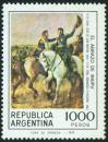 #ARG197802 - Painting. the Embrace of Maipu (San Martin and O'higgins) 1000p MNH 1978   0.60 US$ - Click here to view the large size image.