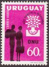 #URY1960C02 - World Refugee Year 1v 1960   0.20 US$ - Click here to view the large size image.