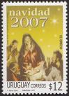 #URY200724 - Christmas-Art 1v MNH 2007   1.99 US$ - Click here to view the large size image.