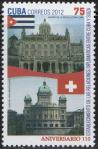 #CUB201225 - The 110th Anni. of Diplomatic Relations With Switzerland 1v MNH 2012   0.75 US$ - Click here to view the large size image.