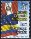 #PER201403 - Peru 2014 Commercial Agreement - Colombia European Union and Peru 1v Stamps MNH   3.09 US$ - Click here to view the large size image.