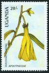 #UGA198803B - Uganda 1988 Flower 20sh thevetica Peruviana 1 Stamps MNH   0.25 US$ - Click here to view the large size image.